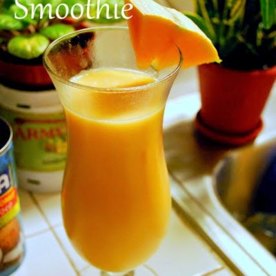 Cantaloupe Coconut Smoothie