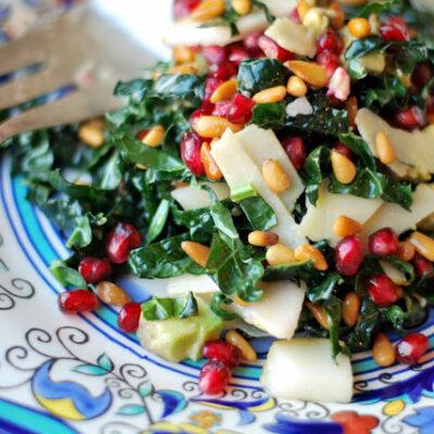 Kale Salad With Pomegranate & Parmesan