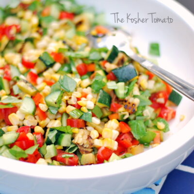 Fresh Corn + Basil Salad