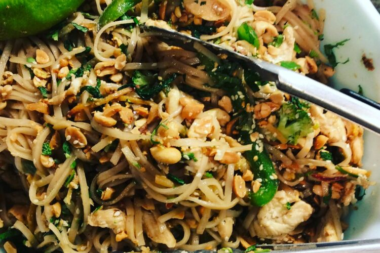 """Green"" Pad Thai"