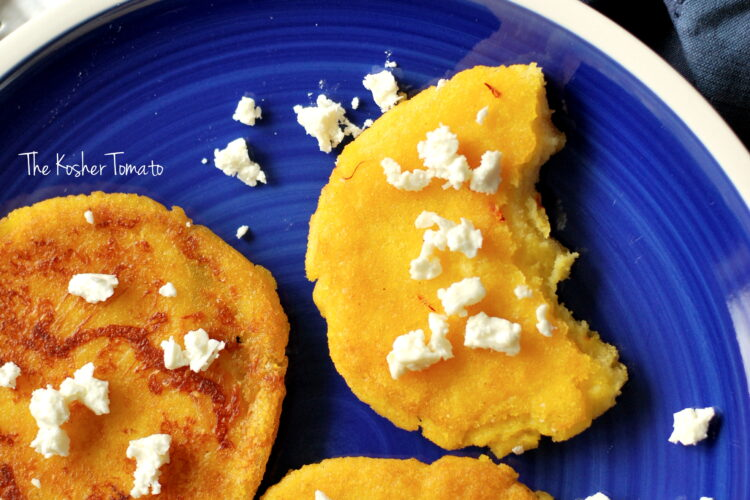 Arepa with Saffon & Feta