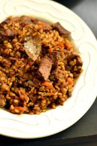 Quick Plov: Uzbek Inspired Lamb & Rice Pilaf